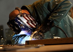Centre AL apprentice welder